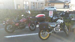 バイク専用駐車場もあります